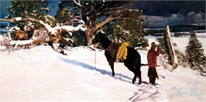 "Wayne Justus Limited Edition Print:""If Horses Could Talk"""