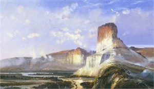 "Michael Coleman Handsigned & Numbered Limited Edition Giclee:""Green River at  Wymoning Territority"""