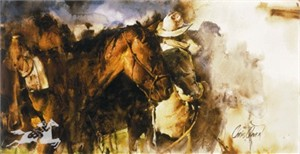 """Chris Owen Hand Signed and Numbered Limited Edition Canvas Giclee:""""Evening Shadows"""""""
