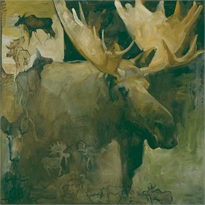 "Mary Roberson Hand Signed and Numbered Limited Edition: ""Take This Moose"""