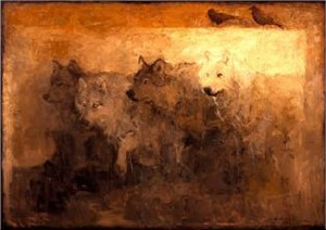 """Mary Roberson Handsigned & Numbered Limited Edition Giclee on Canvas:""""Alpha, Alpha, Beta, Omega"""""""
