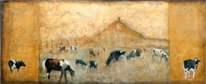 """Mary Roberson Handsigned & Numbered Limited Edition Giclee on Canvas:""""Holstiens and Pinto"""""""