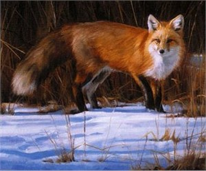 """Edward Aldrich Handsigned & Numbered Limited Edition Print: """"Fox on the Run"""""""