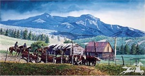 "Wayne Justus Canvas Edition Print:""Where Ranching is a Legacy"""