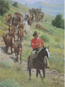 "Wayne Baize Hand Signed and Numbered Limited Edition Lithograph On Paper ""A Cowboy's Dream """