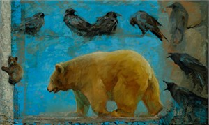 "Mary Roberson Gallery-Wrapped Canvases :""BLACK BEAR CUB"""