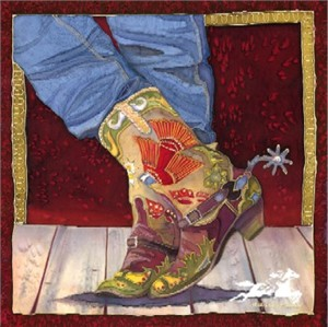 """Nancy Dunlop Handsigned and Numbered Cawdrey Limited Edition Print:""""Boot Fancy"""""""