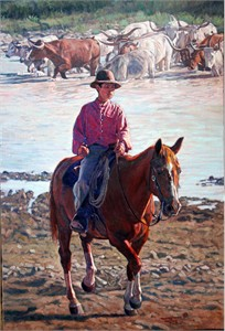 """Bill Owen Hand Numbered Limited Edition Canvas Giclee: """"Waiting Out The Storm"""""""
