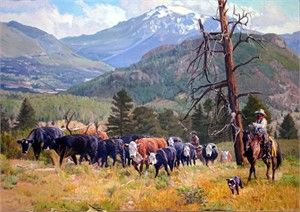 """Tim Cox Hand Signed and Numbered Limited Edition Super Sized Canvas Giclee:""""Rocky Mountain Paradise"""""""