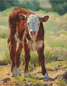 """Bill Owen Hand Numbered Limited Edition Giclee on Canvas:""""Curious"""""""