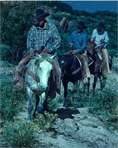 "Bill Owen Hand Numbered Limited Edition Giclee on Canvas:""Moonlighters"""