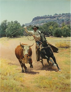 """Bill Owen Hand Numbered Limited Edition Canvas Giclee:""""Zeroing In"""""""