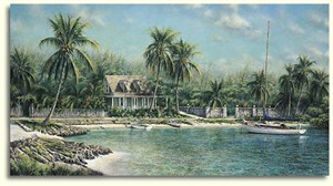 """Tripp Harrison Hand Signed and Numbered  Limited Edition Oversize Print: """"Island Hideway"""""""