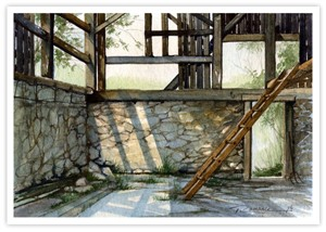 "Trisha Romance Hand Signed and Numbered Limited Edition Canvas Giclee:""Hay Loft"""