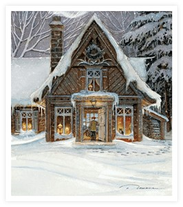 "Trisha Romance Hand Signed and Numbered Limited Edition Giclee:""Blessing of Home"""