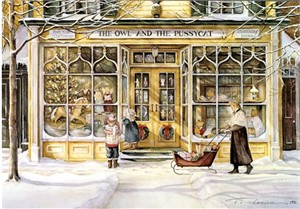 "Trisha Romance Limited Edition Grand Romance Canvas:""The Window Shoppers"""