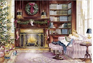 "Trisha Romance Limited Edition Grand Romance Canvas:""The Christmas Story"""