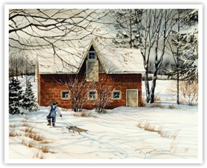 "Trisha Romance Hand Signed and Numbered Limited Edition Giclee:""Coach House"""