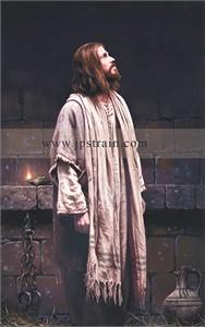 "John Paul Strain Artist Hand Signed Canvas Giclee:""Thou Art With Me"""