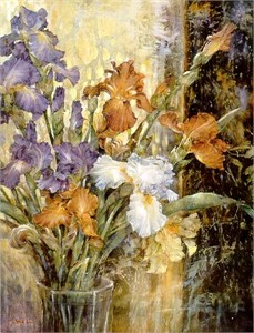 "Lena Liu  Handsigned & Numbered Limited Edition Print: ""Iris Jubilee """