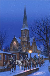 """John Paul Strain Hand Signed and Numbered Limited Edition Giclee:""""The Great Cumberland Raid"""""""