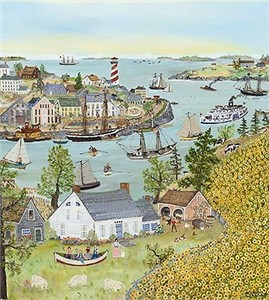 "Will Moses Hand Signed and Numbered Limited Edition Print:""Sunflower Bay"""