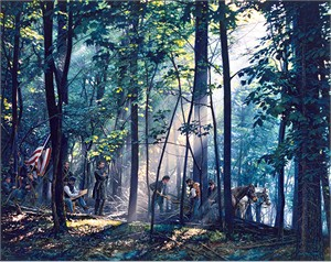 "John Paul Strain Hand Signed and Numbered Limited Edition Giclee:""Sacred Ground on Little Round Top"""