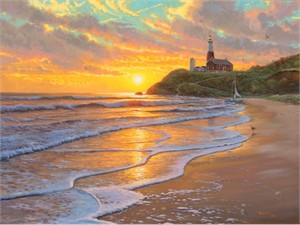 "Mark Keathley Handsigned & Numbered Limited Edition Embellished Giclee on Canvas:""A Perfect Day """