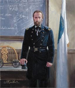 "Mort Kunstler Limited Edition Artist Proof Print:""The Professor from Virginia"""