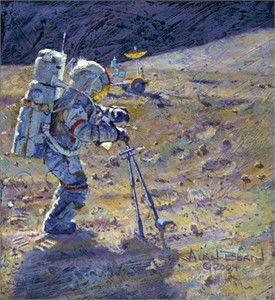 """Alan Bean (Astronaut) Hand Signed and Numbered Limited Edition Canvas Giclee:""""Some of the Tools of Our Trade"""""""