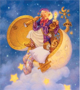 """Scott Gustafson Handsigned and Numbered Limited Edition Giclée Canvas:""""The Man in the Moon"""""""