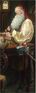"Dean Morrissey Handsigned and Numbered Limited Edition Giclée Canvas:""The Workshop (Father Christmas)"""
