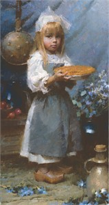 "Morgan Weistling Handsigned and Numbered Limited Edition Giclee on Canvas: ""Dutch Apple Pie"""