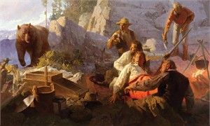 "Mian Situ Handsigned and Numbered Limited Edition Giclée Canvas:""The Intruder, Angel´s Camp, California, 1849"""