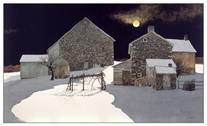 "Peter Sculthorpe Handsigned & Numbered Limited Edition Giclee on Etching Paper:""Moonscape"""