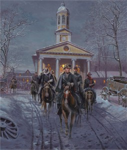 "Mort Künstler Handsigned and Numbered Limited Edition 2009 Snow Print:""Gray Ghost, The"""