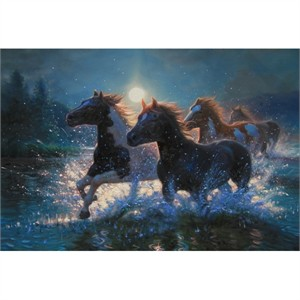 "Mark Keathley Hand Signed and Numbered Limited Edition Embellished Canvas Giclee:""Night Mares"""