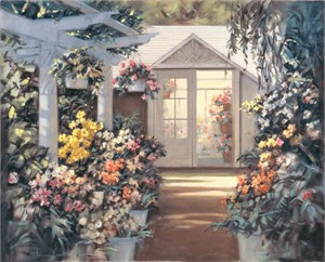 "Paul Landry Handsigned and Numbered Limited Edition Canvas Giclee:""Greenhouse"""