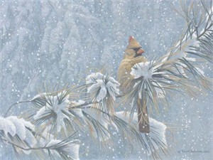 "Robert Bateman Handsigned and Numbered Limited Edition Renaissance Giclee on Canvas: ""Winter Lady"""