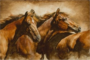 "Chris Owen Artist Hand-Signed and Numbered Limited Edition Giclee Print and Canvas:""Together"""