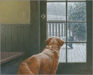 "Robert Bateman  Handsigned and Numbered Limited Edition Giclee on Canvas: ""Observing Christmas"""