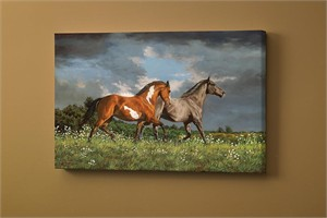 """Chris Cummings Gallery Wrapped Open Edition Canvas Giclee:""""Across Heaven – Horses"""""""