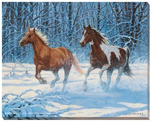 "Chris Cummings Wrapped Canvas:""High Spirits – Horses*"""