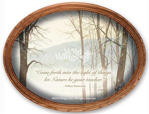 "Jim Kasper Framed Oval Canvas:""Through the Forest"""