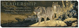 """Rosemary Millette Wrapped Canvas:""""LEADERSHIP – Wolves"""""""