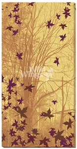 """Scot Storm Wrapped Canvas Giclee:""""Trees and Leaves"""""""
