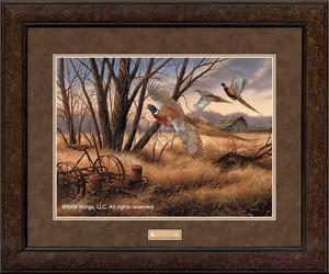"""Rosemary Millette Premium Framed Print:""""Prairie Wings-Pheasants"""""""