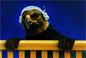 "Will Bullas Fine Art Limited Edition Paper :""Legal Eagle"""