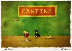 """Will Bullas Fine Art Limited Edition Paper :""""A Little Sangria"""""""