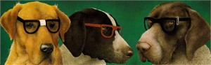 "Will Bullas Fine Art Limited Edition Paper :""The Nerd Dogs"""